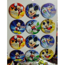 Aa Mickey Mouse 4 Docenas De Botones Fiesta