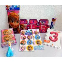 Paquete Complementos Frozen Disney Desechables Fiesta