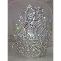 Corona Para Reina De Carnaval , 27 Cm Aprox