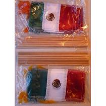 Mini Banderas De Tela Con Palito Septiembre Fiestas Patrias