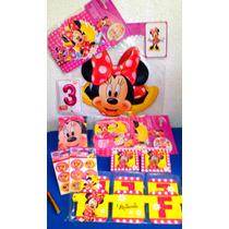 Paquete Complementos De Minnie Mouse, Desechables Fiesta