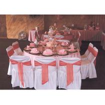Juego De Cubre Mantel Redondo Y Servilletas Color Rosa Vbf