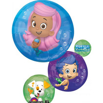 2 Globos Metálicos Jumbo 28 Pulgadas Bubble Guppies, Fiesta