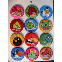 Artículos De Fiesta Angry Birds. Bolsitas Y Botones.
