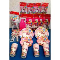 Paquete Plus No. 2 De Fiesta Hello Kitty Desechables Fiesta
