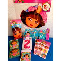 Paquete Complementos Dora La Exploradora, Desechables Fiesta