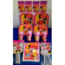 Paquete Básico Fiesta Minnie Mouse, Desechables Fiesta