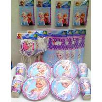 Paquete Plus De Elsa (frozen), Desechables Fiesta.
