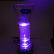 Base Color Plata Con Luz Giratoria Decoracion Para Eventos