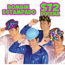 12 Sombreros Bombin Estampado,souvenirs Para Bodas