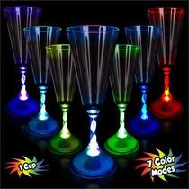 Copa Champagne Luminosa Led Multicolor Fiestas Neonfiesta