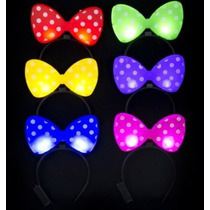Diadema Luminosa Led Minnie Mickey Diablito Neonfiesta