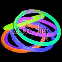 100 Pulseras Luminosas Cyalume Neon Varios Colores Fiesta