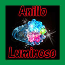 10 Anillos Luminosos Luz Led Multicolor Neon Fiesta Rave Bar