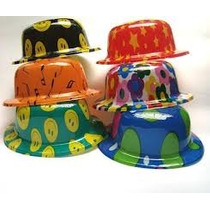 12 Sombrero Bombin,hielos*velas Led,boda,fiesta Vv4