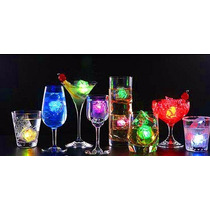 Cubo Hielo Led Rgb Sumergible Luminoso Antro Bar Fiesta