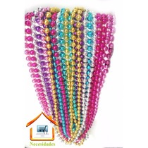 10 Collares Mardi Grass,fiesta,batucada,esferas,perla.