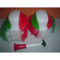 Sombrero Bombin México 15 Sep,hielos,peluca Afro,