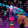 Pistola De Burbujas Luminosa Led Multicolor Fiesta Espuma
