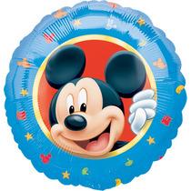 Globo Mickey Paq 10 Pzas Medida 9 Pulgadas Centro De Mesa