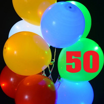 50 Globos Luminosos Mayoreo Led Para Fiestas Y Eventos