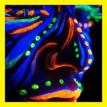 12 Crayones Neon Maquillaje Cara Glow Luz Negra Fiesta Body