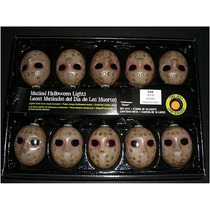 Serie 10 Luces Led Jason Musical,calabaza,mascara Halloween