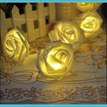Serie De Rosas Con Luz Led Para Adornar Eventos Y Fiestas