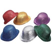 Bombin Diamantado Brillantina Colores Sombrero 10 Piezas
