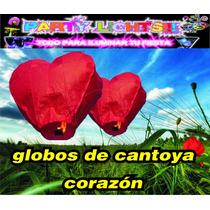 Globos De Cantoya Corazon Boda Fiestas Linterna China