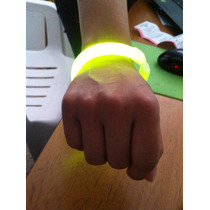 Brazalete Pulsera Cyalume Glow Neon Elegante Neonfiesta