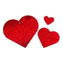 Corazón Rojo Adorno Suaje Acrílico Manualidades Amor Fiesta