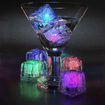 Cubo De Hielo Led Sumergible Luminoso Rgb