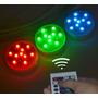 Luz Led Sumergible Con Control Remoto Dsd 1 Pieza 13 Colores