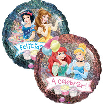 Globo Princesas Disney Paq. 6 Pzas Medida 18 Pulgadas Helio