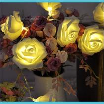 Serie De Rosas Para Decoración Con Luz Led