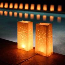 10 Luminarias Lampara De Papel Vela Decoración Boda Xvaños