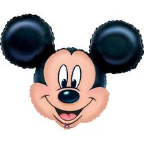Globo Mickey 6 Pzas Medida 14 Pulgadas Para Centro De Mesa