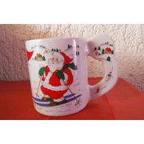 Taza Oriental Japon Navidad Christmas Santaclaus Cafeteria