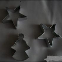 Cortador De Galletas 3d De Aluminio Con Figuras De Estrella,