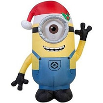 Inflable Al Aire Libre De Navidad 3.5 Pies Minion Stuart Con