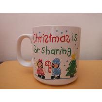 Taza Christmas Is For Sharing Navidad Souvenir Cafeteria