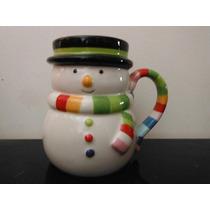 Taza Snowman Christmas Hombre De Nieve Navidad Cafe Souvenir