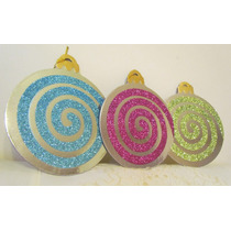 Navidad Adornos Decoracion Esferas Carton