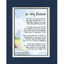 Un Regalo Para Un Marido. # 80 Tocar 8x10 Poema Doble Enmara
