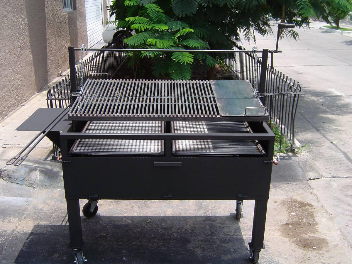 Asadores de carne argentino jumbo parrilla ajustable for Asadores de carne para jardin de ladrillo