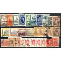 0926 Argentina Lotecito De 28 Sellos Usados Modernos