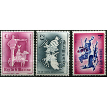 1559 Caballos San Marino Lotecito 3 Piezas Mint L H 1963-68
