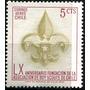1652 Chile S#311 Boy Scautt Escudo 5c Sello Mint N H 1970