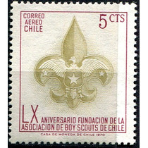 1652 Chile S#311 Boy Scautt Escudo 5c Sello Mint N H 1970